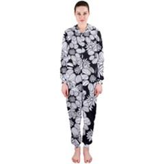 Mandala Calming Coloring Page Hooded Jumpsuit (Ladies)
