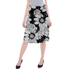 Mandala Calming Coloring Page Midi Beach Skirt