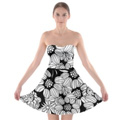 Mandala Calming Coloring Page Strapless Bra Top Dress