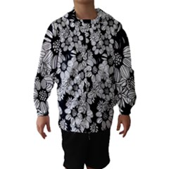 Mandala Calming Coloring Page Hooded Wind Breaker (kids)