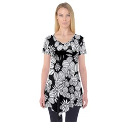 Mandala Calming Coloring Page Short Sleeve Tunic