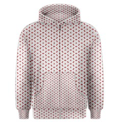 Motif Pattern Decor Backround Men s Zipper Hoodie