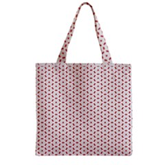 Motif Pattern Decor Backround Zipper Grocery Tote Bag