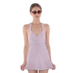 Motif Pattern Decor Backround Halter Swimsuit Dress