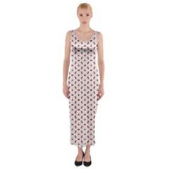 Motif Pattern Decor Backround Fitted Maxi Dress
