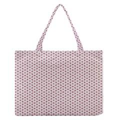 Motif Pattern Decor Backround Medium Zipper Tote Bag