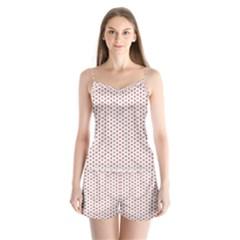 Motif Pattern Decor Backround Satin Pajamas Set