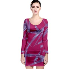 Background Vector Texture Pattern Long Sleeve Bodycon Dress