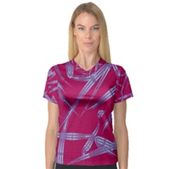 Background Vector Texture Pattern Women s V-Neck Sport Mesh Tee