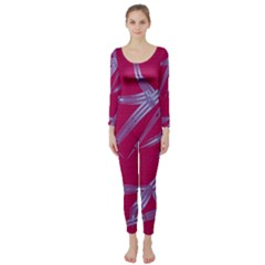 Background Vector Texture Pattern Long Sleeve Catsuit