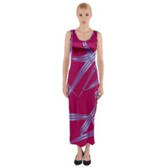 Background Vector Texture Pattern Fitted Maxi Dress