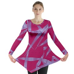 Background Vector Texture Pattern Long Sleeve Tunic