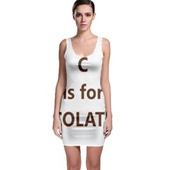 C Is For Choc Lab Sleeveless Bodycon Dress