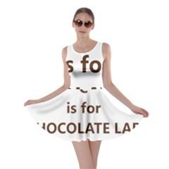 C Is For Choc Lab Skater Dress