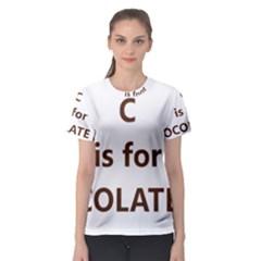 C Is For Choc Lab Women s Sport Mesh Tee
