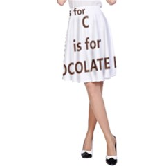 C Is For Choc Lab A-Line Skirt