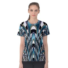 Abstract Art Design Texture Women s Cotton Tee