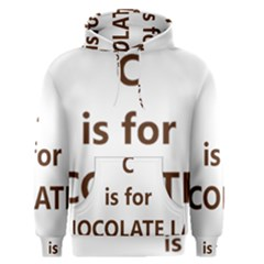 C Is For Choc Lab Men s Pullover Hoodie