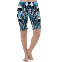 Abstract Art Design Texture Cropped Leggings