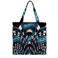Abstract Art Design Texture Zipper Grocery Tote Bag