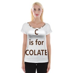 C Is For Choc Lab Women s Cap Sleeve Top