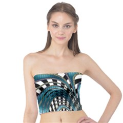 Abstract Art Design Texture Tube Top
