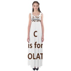 C Is For Choc Lab Empire Waist Maxi Dress