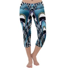Abstract Art Design Texture Capri Yoga Leggings
