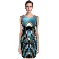 Abstract Art Design Texture Classic Sleeveless Midi Dress