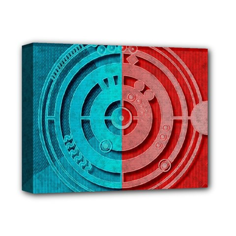 Vector Watch Texture Red Blue Deluxe Canvas 14  X 11