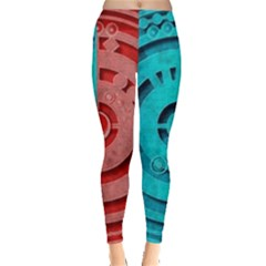 Vector Watch Texture Red Blue Leggings