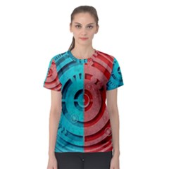 Vector Watch Texture Red Blue Women s Sport Mesh Tee