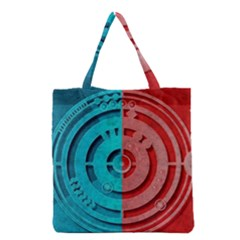 Vector Watch Texture Red Blue Grocery Tote Bag