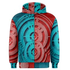 Vector Watch Texture Red Blue Men s Zipper Hoodie