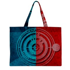Vector Watch Texture Red Blue Zipper Mini Tote Bag