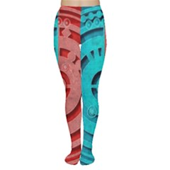 Vector Watch Texture Red Blue Women s Tights