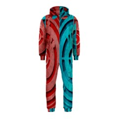 Vector Watch Texture Red Blue Hooded Jumpsuit (Kids)