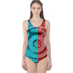 Vector Watch Texture Red Blue One Piece Swimsuit