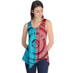 Vector Watch Texture Red Blue Sleeveless Tunic