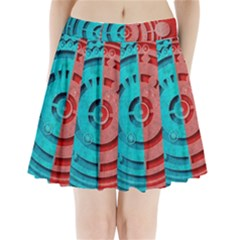 Vector Watch Texture Red Blue Pleated Mini Skirt