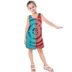 Vector Watch Texture Red Blue Kids  Sleeveless Dress