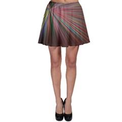 Pattern Flower Background Wallpaper Skater Skirt