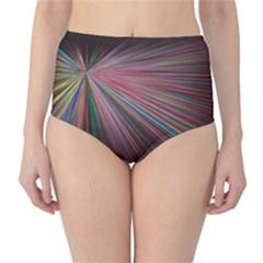 Pattern Flower Background Wallpaper High Waist Bikini Bottoms