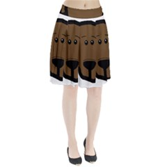 Choc Lab Head Pleated Skirt