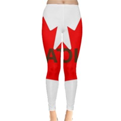 Choc Lab Name Canadian Flag Leggings