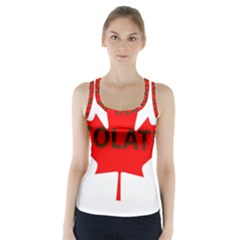 Choc Lab Name Canadian Flag Racer Back Sports Top