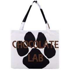 Choc Lab Name Mega Paw Mini Tote Bag