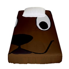 Chocolate Labrador Cartoon Fitted Sheet (Single Size)