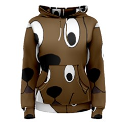 Chocolate Labrador Cartoon Women s Pullover Hoodie