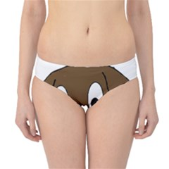 Chocolate Labrador Cartoon Hipster Bikini Bottoms